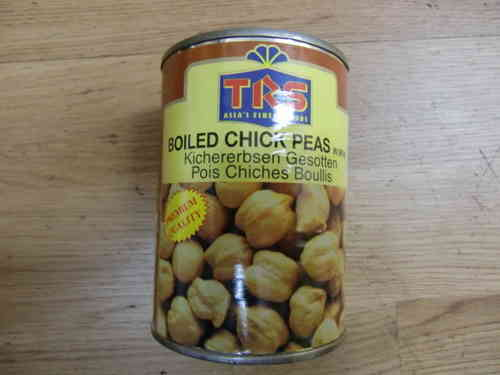 TRS Boiled Chickpeas Tin 400 Gms
